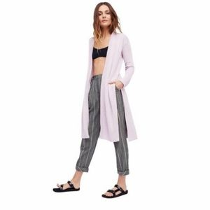 Free People Lavender Duster Knit Cardigan Small